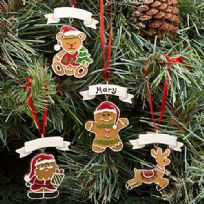Gingerbread Themed Christmas Tree Ornaments